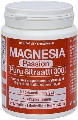 Magnesia Passion Puru Sitraatti 300mg 90 purutablettia