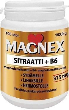 Magnex Sitraatti 375mg + B6 100 tablettia