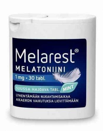 Melarest 1 mg 30 suussa hajoavaa tablettia