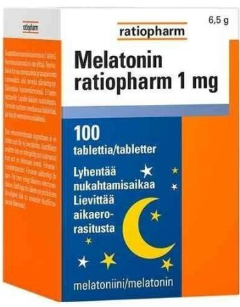 Melatonin ratiopharm 1 mg 100 tablettia