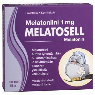 Melatosell Melatoniini 1mg 60 tabl.