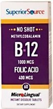 Methylcobalamin B12 1000 mcg + folic acid 400 mcg 60 tablettia