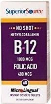 Methylcobalamin B12 1000 mcg + folic acid 400 mcg 60 tablettia