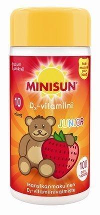 Minisun D3-vitamiini Junior 10 µg Nalle