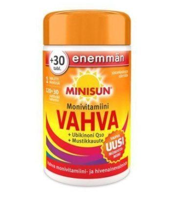 Minisun Vahva Monivitamiini 120 + 30 tablettia - KAMPANJAKOKO