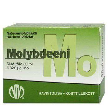 Molybdeeni Natriummolybdaatti 60 tablettia