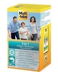 Multi-tabs 3in1 Omega-3 + monivitamiini-kivennäisainevalmiste 90 kapselia