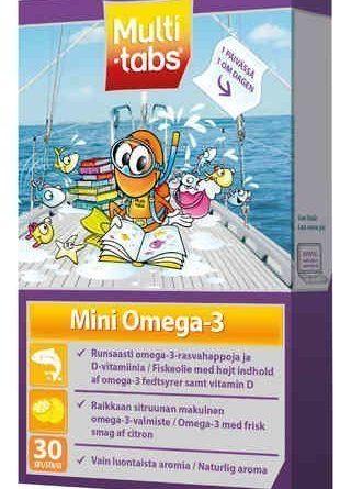 Multi-tabs Mini Omega-3 30 geelipastillia