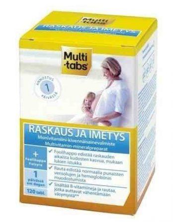 Multi-tabs Raskaus monivitamiinivalmiste 120 tablettia