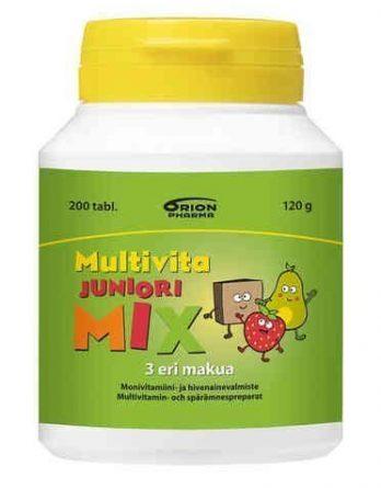 Multivita Juniori Mix 200 purutablettia