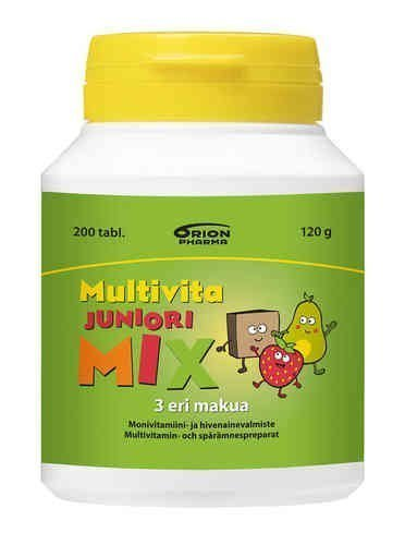 Multivita Juniori Mix 200 purutablettia