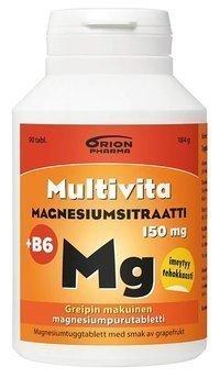 Multivita Magnesiumsitraatti + B6 90 purutablettia *