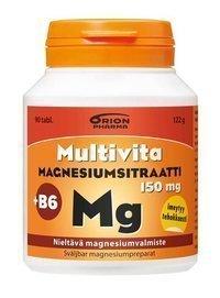 Multivita Magnesiumsitraatti + B6 90 tablettia *