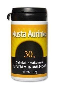 Musta Aurinko D3 30 mikrog 60 tablettia