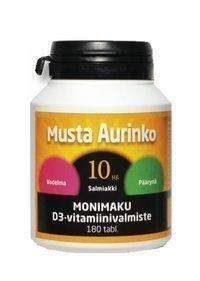 Musta Aurinko Monimaku D-vitamiini 10 µg 180 tablettia