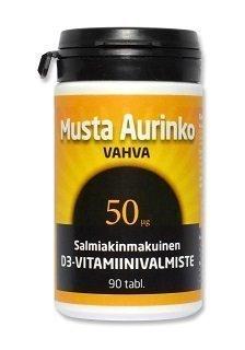 Musta Aurinko Vahva D3 50 µg 90 tablettia