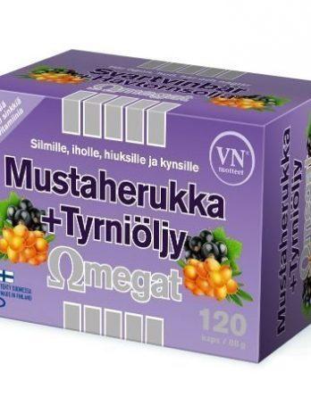 Mustaherukka + tyrniöljy Omegat