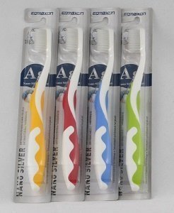 NANO SILVER antibakteerinen hammasharja 1 kpl Eqmaxon