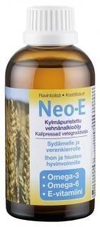 Neo-E Kylmäpuristettu vehnänalkioöljy 200 ml.