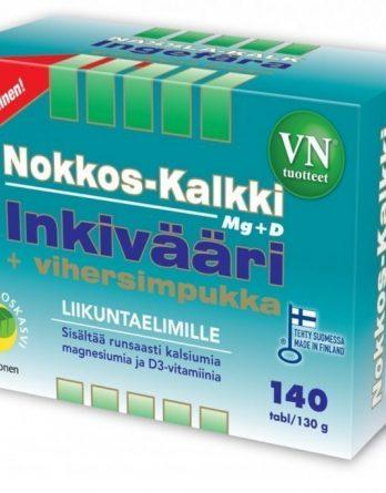 Nokkos-Kalkki-Inkivääri + vihersimpukka 140 tabl.