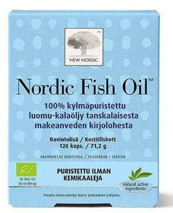 Nordic Fish Oil Luomukalaöljy 120 tablettia