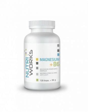 Nutri Works Magnesium + B6 120 kaps.