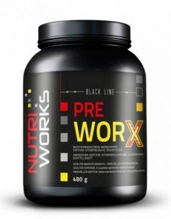 Nutri Works Pre worx tehonlisääjä mustikka 480g