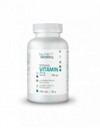 Nutri Works Strong vitamin D3 100 tabl.