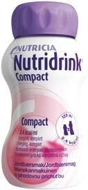 Nutridrink Compact täydennysravintovalmiste 4 x 125 ml MANSIKKA