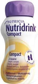 Nutridrink Compact täydennysravintovalmiste 4 x 125 ml MOKKA