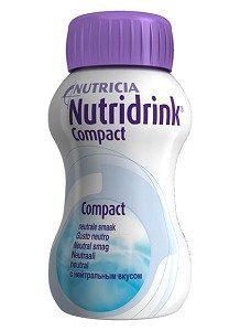 Nutridrink Compact täydennysravintovalmiste 4 x 125 ml NEUTRAALI