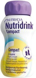 Nutridrink Compact täydennysravintovalmiste 4 x 125 ml VANILJA