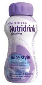 Nutridrink Juice style 4 x 200 ml MUSTAHERUKKA