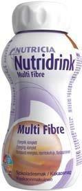 Nutridrink Multi Fibre ravintovalmiste 4 x 200 ml KAAKAO