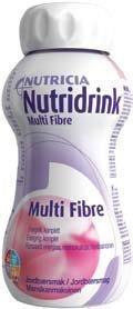 Nutridrink Multi Fibre ravintovalmiste 4 x 200 ml MANSIKKA