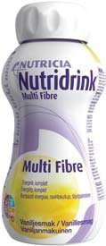 Nutridrink Multi Fibre ravintovalmiste 4 x 200 ml VANILJA