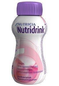 Nutridrink täydennysravintovalmiste 4 x 200 ml MANSIKKA
