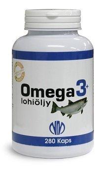 Omega 3+ Lohiöljy 280 kapselia