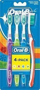 Oral-B Shiny Clean Hammasharja 4 kpl