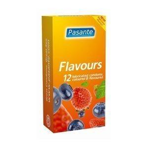 Pasante Mixed Flavours kondomi 12 kpl