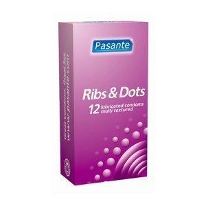 Pasante Ribs&Dots kondomi 12 kpl