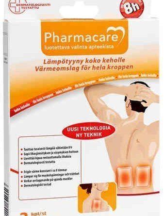 Pharmacare lämpötyyny 10 x 13 cm 2 kpl