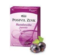 Posivil Zink Mustaherukka kuumajuomajauhe 20 annospussia