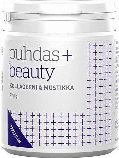 Puhdas+ Beauty Kollageeni & Mustikka sokeriton 270 g