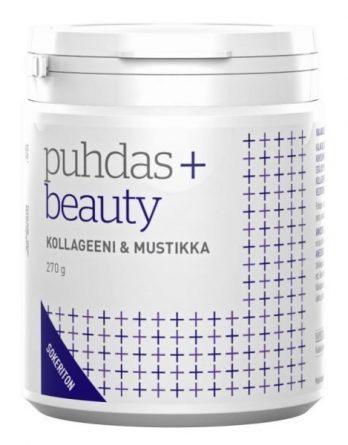 Puhdas+ Beauty Kollageeni ja mustikka valmiste 270 g