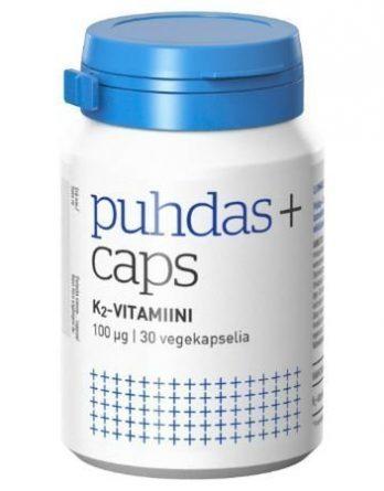 Puhdas+ Caps K2-vitamiini 30 kpl