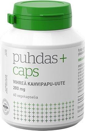 Puhdas+ Caps Vihreä kahvipapu-uute 200 mg 60 kaps.