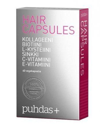Puhdas+ Hair Capsules vegekaps ravintolisä 60 kpl