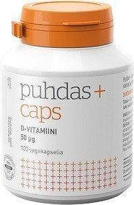 Puhdas+ Kasviperäinen D3-vitamiini 50 µg 120 kaps