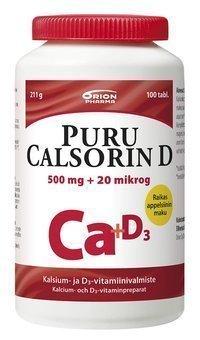 Puru Calsorin D 500 mg + 20 µg 100 tablettia *